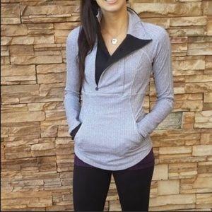 🍋 Lululemon gray Base Runner 1/2 pullover